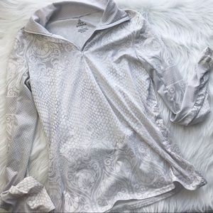PrAna white pullover yoga jacket Sm